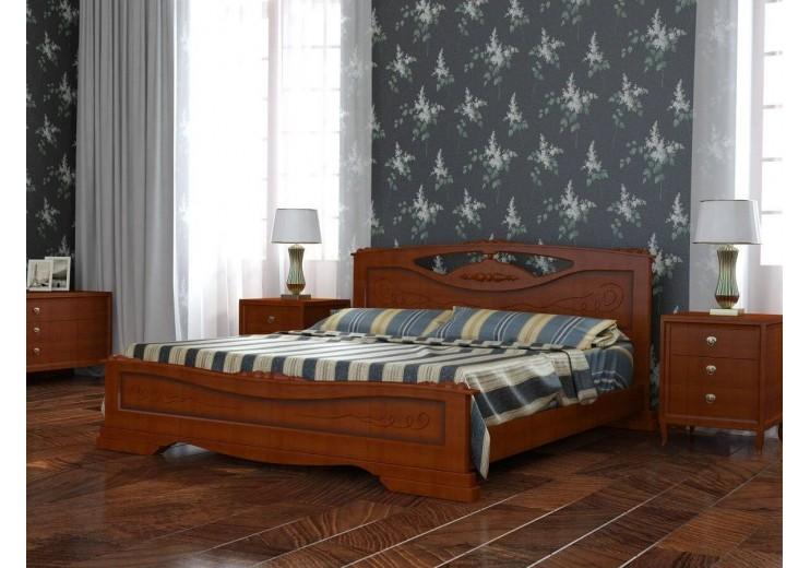 Кровать деревянная Елена-3 орех БО