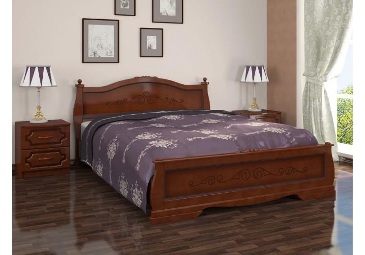 Кровать деревянная Карина-2 орех БО