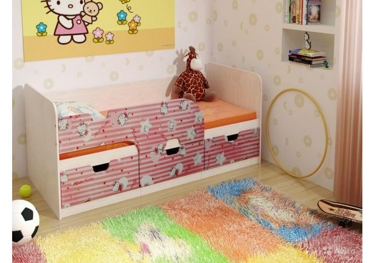 Детская кровать Минима ( Китти/Лайм)(1892х770х850)