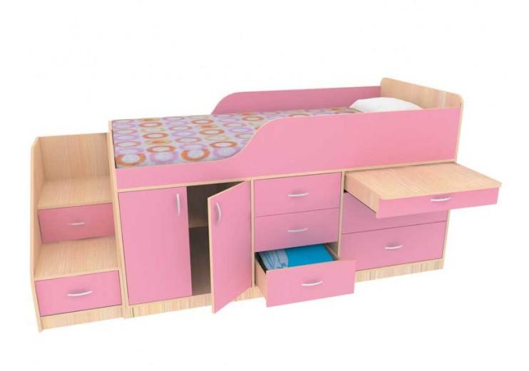 Детская кровать МАЛЫШ (2360х1085х930) (СМ 900х1900)