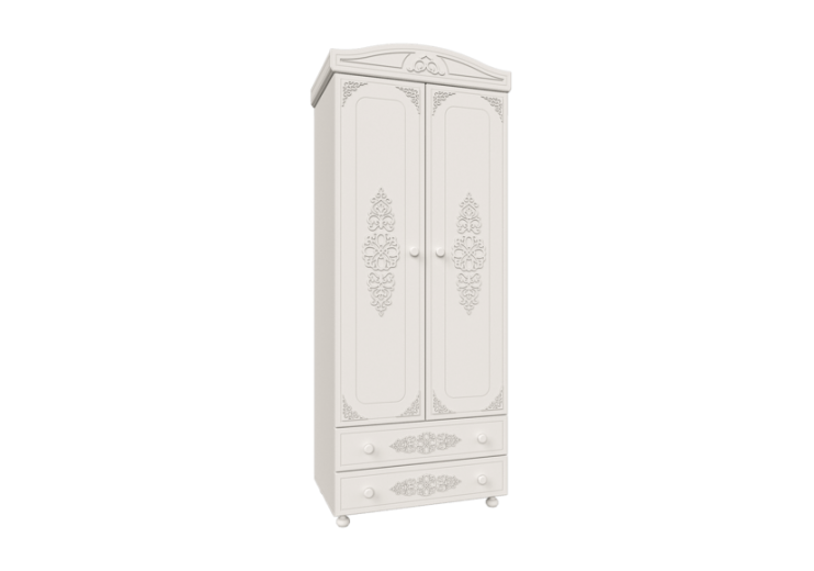 Модульная система Ассоль шкаф для одежды АС-2 (Белое дерево)