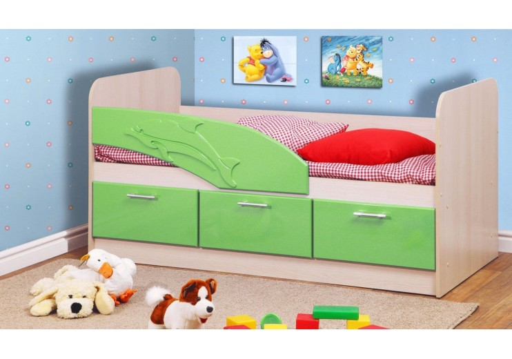 Кровать одинарная 06.222 Дельфин (СМ 800х1600 мм)
