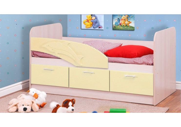 Кровать одинарная 06.223 Дельфин (СМ 800х1800 мм)