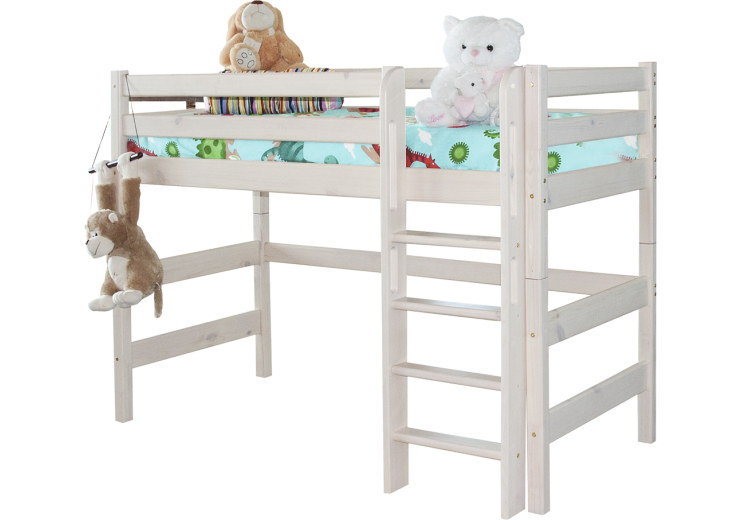 Детская кровать-чердак Соня Вариант 5 с прямой лестницей