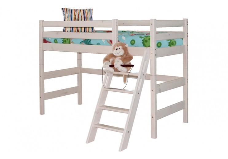 Детская кровать Соня Вариант 6 полувысокая с наклонной лестницей