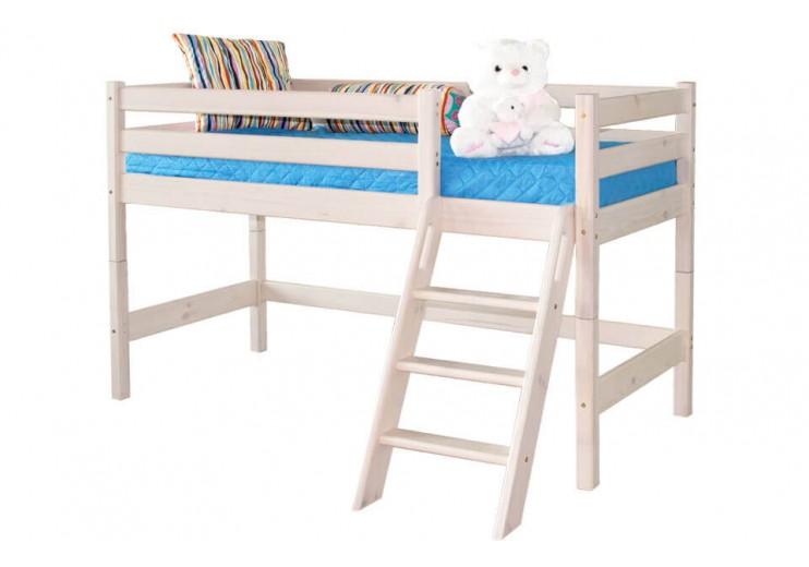 Детская кровать Соня Вариант 12 с наклонной лестницей