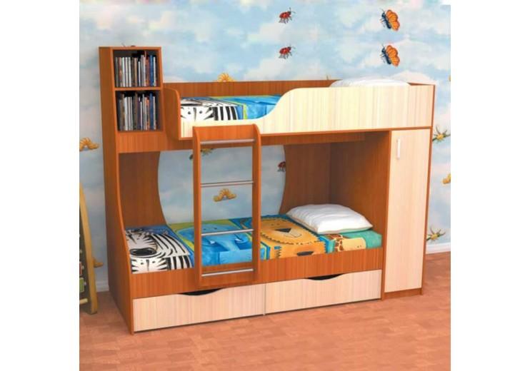 Кровать Башмачок (детский комплекс) (1890х2280х1080 мм) (СМ 900х1900 мм)