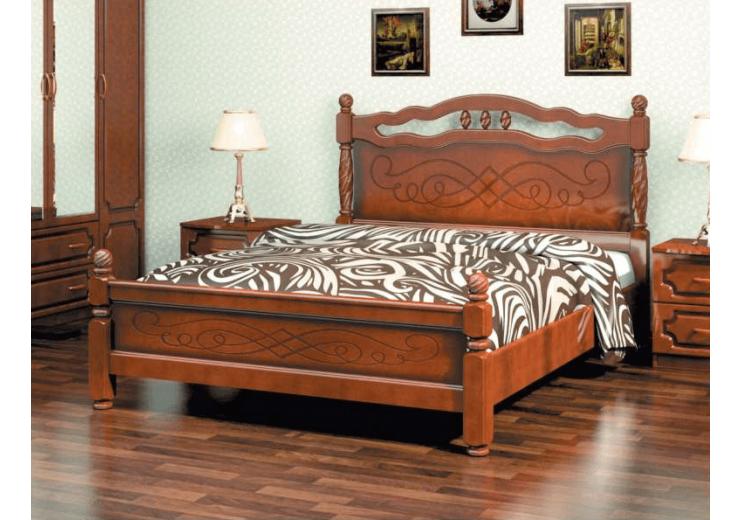 Кровать деревянная Карина-15 (орех) БО