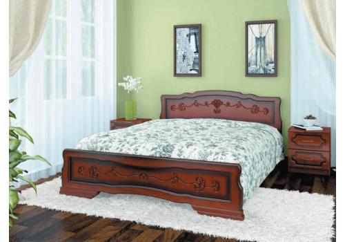 Кровать деревянная Карина-6 тахта орех БО