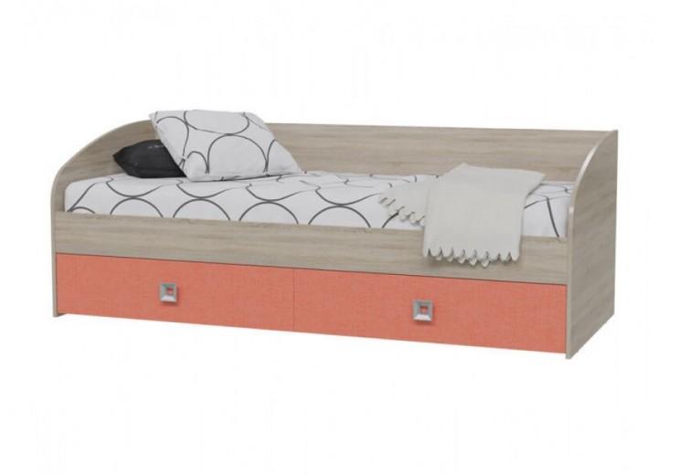 Кровать односпальная Сити (Коралл)
