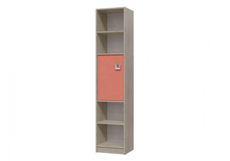 Шкаф стеллаж с дверкой Сити (Коралл)