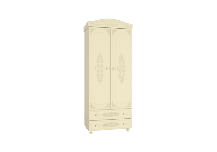 Модульная система Ассоль Плюс Шкаф для одежды АС-2 (Ваниль)