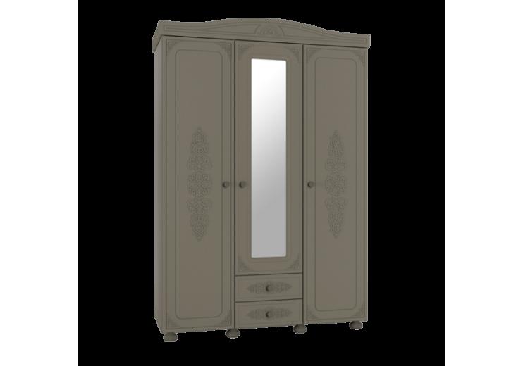 Модульная система Ассоль Плюс Шкаф трёхстворчатый с зеркалом АС-27 (Лиственница)