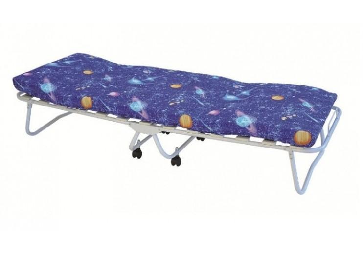 Кровать раскладная Сон-2 (на ламелях, с матрасом и колёсиками)