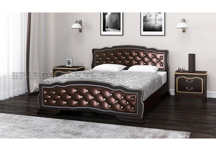 Кровать Карина-10 (орех темный(бриллиант)) БО
