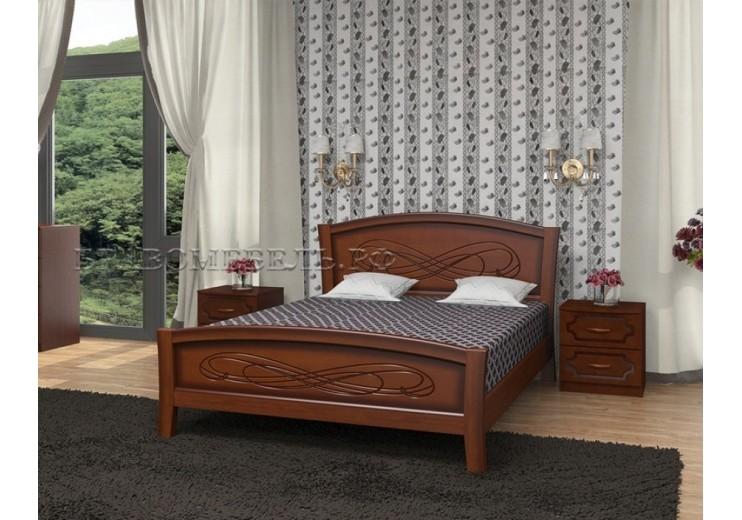 Кровать деревянная Карина-16 (орех) БО