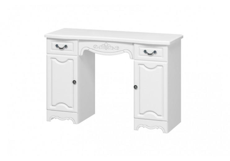 Макияжный стол Лотос (белый глянец)