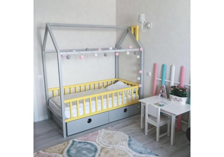 Деревянная кровать домик Банни