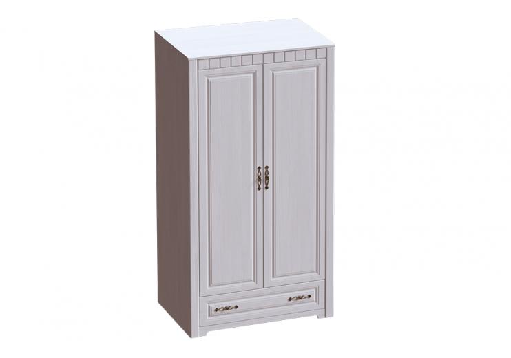 Детская Прованс шкаф двухдверный (Бодега белая / Патина премиум)