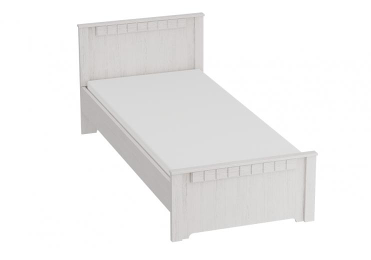 Детская Прованс кровать 900 (Бодега белая / Патина премиум)