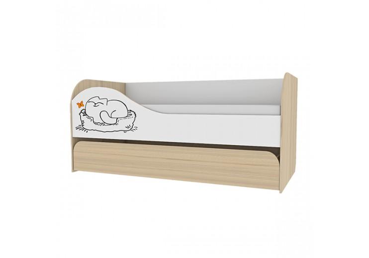 Детская Кот №900.1 Кровать 2-х уровневая