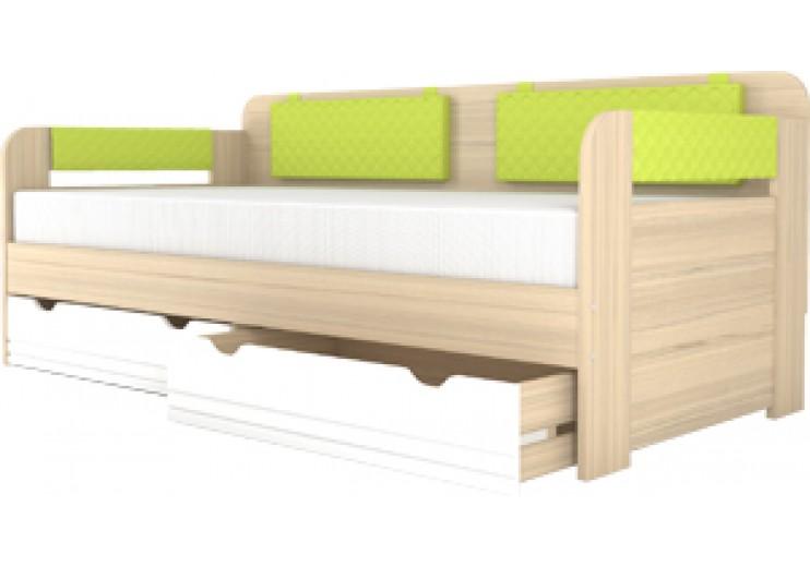 Кровать-тахта 900.4 Стиль (лайм)+ комплект подушек