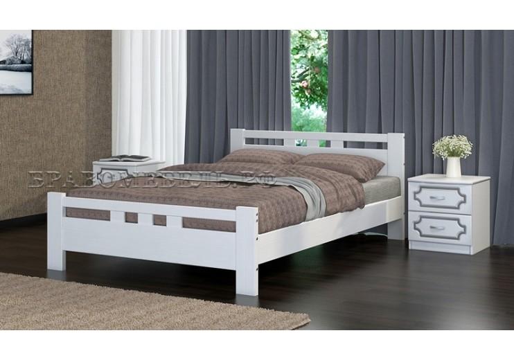 Кровать деревянная Вероника-2 (дуб белый)