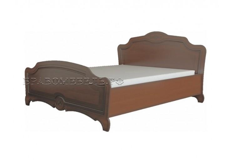 Кровать Лотос (лакированный орех)