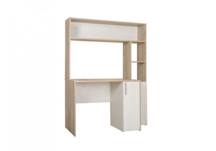Стол компьютерный Комфорт  12.74(Дуб серый CRAFT K 002 PW,Шелковый камень К349 RT)