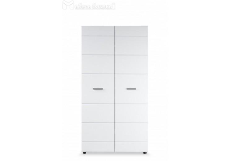 Шкаф 2- Йорк дверный Белый жемчуг/Белый глянец