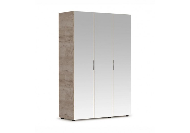 Шкаф  Джулия 3-х дверный Дуб крафт серый/Белый глянец (ДДД)