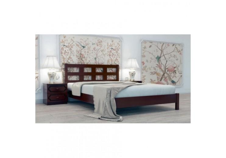 Кровать Вероника-4 (Орех темный)