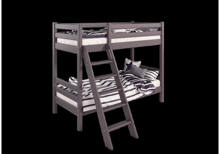 """Двухъярусная кровать """"Соня"""" с наклонной лестницей вариант 10"""
