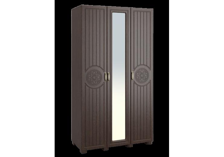 """Шкаф трёхдверный """"Монблан"""" МБ-24К (комбинированный) венге/орех шоколадный"""
