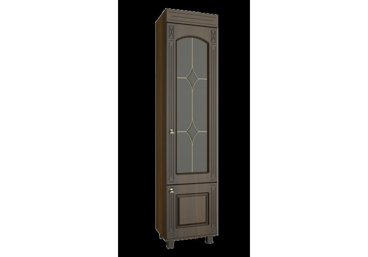 """Шкаф-витрина  """"Элизабет"""" ЭМ-4 ( левый, правый) орех темный"""